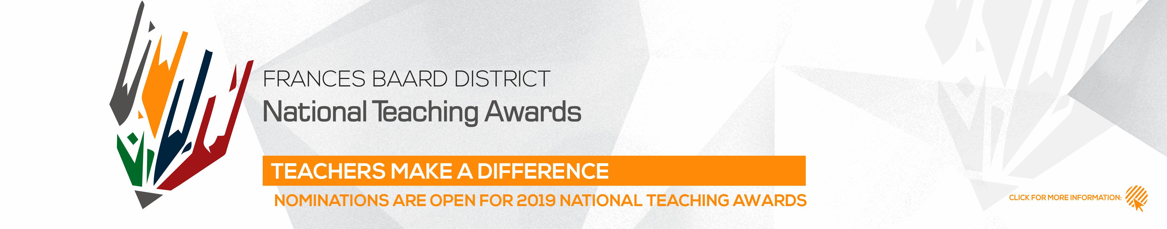 frances beeard district national teaching awards