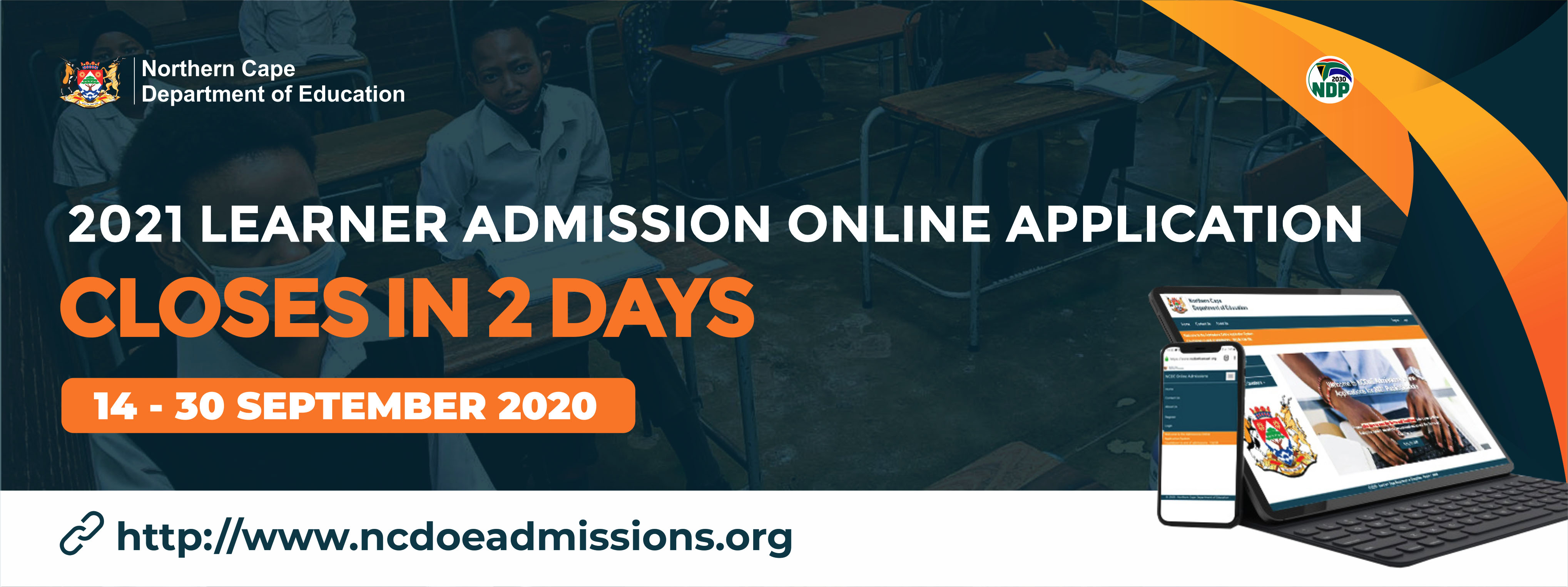 Online learner admissions closing in 2 days.