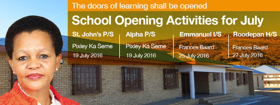 School Opening Activities for July